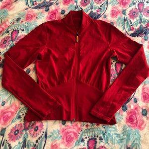 Lululemon Zip up Jacket Red size 6